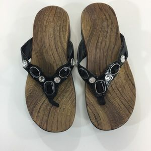 Vionic Orthoheel Black Arch Support Sandals